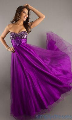 Pretty Purple Ball Gown
