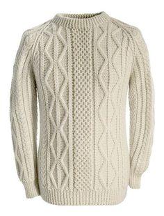 Aran Sweater Market - the home of Irish Aran sweaters. The Aran Sweater, also known as a Fisherman Irish Sweater, the famous original since quality authentic Aran sweater & Irish sweaters from the Aran Islands, Ireland. Mens Knit Sweater Pattern, Sweater Knitting Patterns, Knit Patterns, Baby Knitting, Men Sweater, Cool Sweaters, Cable Knit Sweaters, Sweaters For Women, Irish Sweaters