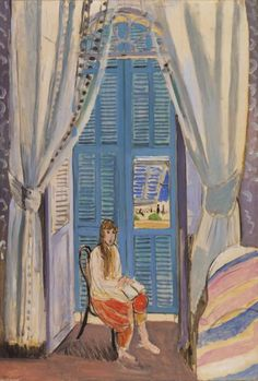 Henri Matisse - The Venetian Blinds (Les Persiennes) 1919, Oil on canvas.