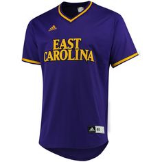 50ff1de14 East Carolina Pirates adidas Authentic Baseball Jersey - Purple