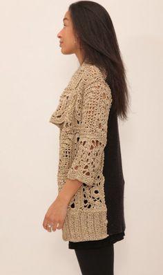 diseñador suéter de ganchillo