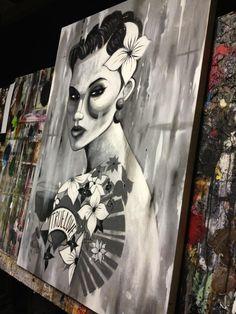 terry bradley art Pop Art, Concept Art, Tattoo Ideas, Street Art, Character Design, Spirituality, Culture, Painting, Women