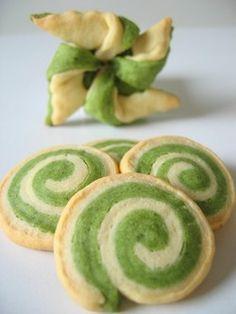 grüne kekse/ green biscuits