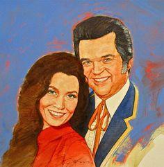 It's Country - 12 Loretta Lynn & Conway Twitty by Cliff Spohn ~ acrylic on board Conway Twitty, Play That Funky Music, Loretta Lynn, Music Painting, Sales Image, Country Music Stars, Buy Art Online, Military Art, Medium Art