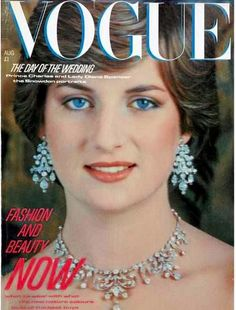 Princess Diana - One of her first appearances on a magazine.      Photo from Retronaut.co