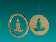 Ornaments for a Christmas tree 06 (lasercut)