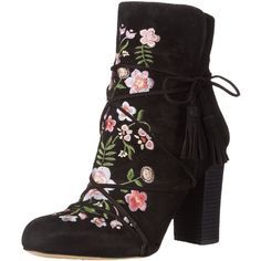 Sam Edelman Women's Winnie Boot (170 CAD) ❤ liked on Polyvore featuring shoes, boots, suede leather boots, suede boots, embroidered shoes, wrap boots and sam edelman boots