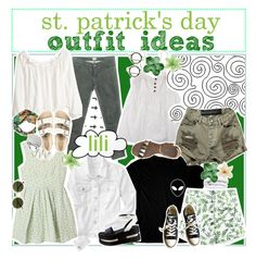 """""""☼; st. patrick's day outfit ideas"""" by ocean-clique-xo ❤ liked on Polyvore featuring Lala Berlin, H&M, Gap, Chicnova Fashion, OneTeaspoon, Converse, Prada, Vic Matié, Gucci and Birkenstock"""