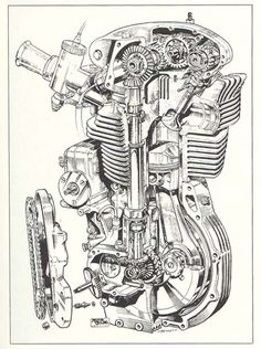 1957 Norton DOHC Engine, - a road racing winner in it's time.