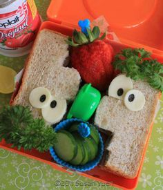 ferb sandwich- the boys would love to open their lunch boxes at school and find this!