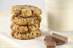 Barbara's Backstube: knusprige Hafer-Schoko-Cookies
