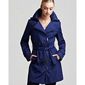 Marc New York Asymmetric Zip Belted Trench Coat