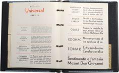 universal grotesk specimen from Grafotechna