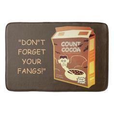 Count Cocoa Box bath mat - home decor design art diy cyo custom