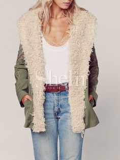 Shop Army Green Long Sleeve Embroidered Coat online. SheIn offers Army Green Long Sleeve Embroidered Coat & more to fit your fashionable needs.