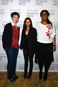 Caroline Bonnet (L), Francesca Prianon and Marie Odile Radom (R) attend the 2013 Launch of the Dorchester Collection Fashion Prize 2013 at Hotel Plaza Athenee on May 3, 2013 in Paris, France. (Photo by Pascal Le Segretain/Getty Images for Dorchester Collection Fashion Prize 2013)