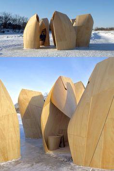Winnipeg Skating Shelters / Patkau Architects – S… / cursosphotoshop. Temporary Architecture, Landscape Architecture, Interior Architecture, Landscape Design, Architecture Colleges, Floating Architecture, Monumental Architecture, Colonial Architecture, Architecture Portfolio