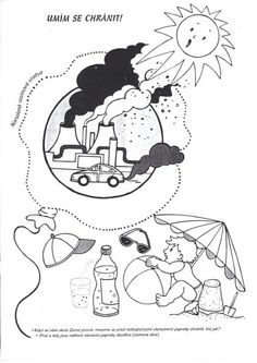Kliknutím zavřít Earth Day Activities, Kindergarten, Science, Green Day, Education, Fictional Characters, Environmental Education, Colouring In, Planets
