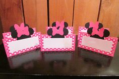 Minnie Mouse Birthday Pink Polka dot Food by PurpleZebraPaperCo