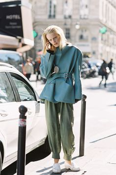 Belgian model Hanne Gaby Odiele, after Giambattista Valli, Paris, October 2012.