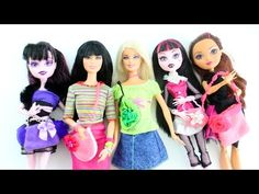 Make DOLL BAGS or PURSES using scraps - Easy Doll Crafts - YouTube
