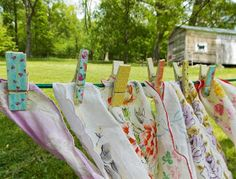 Working for Carrots: Decorating with Vintage Hankies