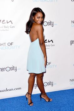 Aja Naomi King attends the 7th Annual 'Night Of Generosity' Gala at the Beverly Wilshire Four Seasons Hotel on November 6, 2015 in Beverly Hills, California.