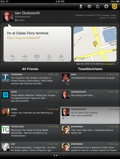 Tweetdeck, super cool iPad UI