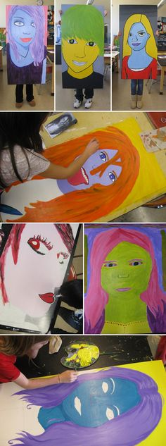 self-portraits would be cool to make it like a giant head mask