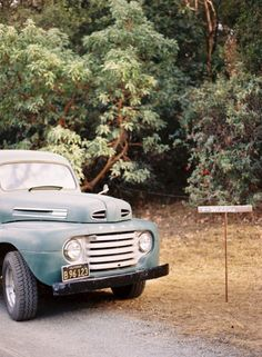 Old truck = perfect getaway car