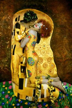 Art Inspired by Gustav Klimt's The Kiss Painting