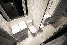 Nowoczesna mała łazienka w bieli