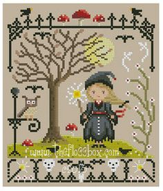 Hermione Cross Stitch Pattern por Theflossbox en Etsy