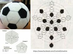 Marque-pages Au Crochet, Crochet Ball, Crochet Motifs, Crochet Amigurumi, Crochet Diagram, Crochet Granny, Crochet For Kids, Amigurumi Patterns, Crochet Crafts