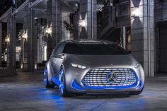 Mercedes Vision Tokyo, the fuel-cell autonomous minivan… To complete the Vision Concepts series, Mercedes has created the new Vision Tokyo, some kind of fuel-cell autonomous driving minivan…with neon lights. Cars news.uk