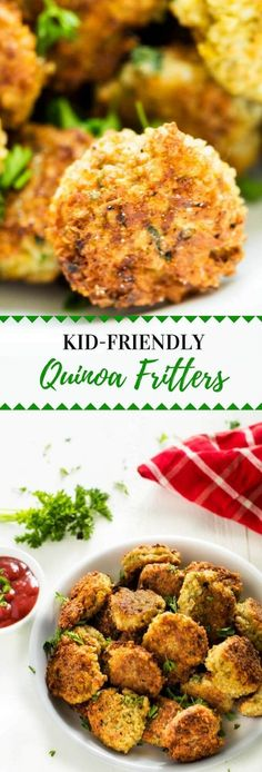 These Kid Friendly Quinoa Fritters are one of my favorite quinoa recipes for kids! The perfect way to get your kids eating quinoa without a fuss.