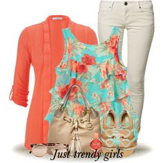 coral by justtrendygirls on Polyvore featuring polyvore, fashion, style, maurices, CIMARRON, Steve Madden, Michael Kors, FOSSIL and Linda Farrow