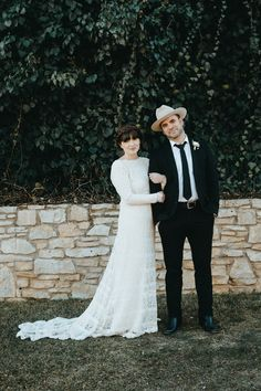 A blushing bride and her cowboy | Image by You Are My True