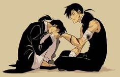 """""""Don't go."""" Greed and Ling. Feels!!!! :'("""