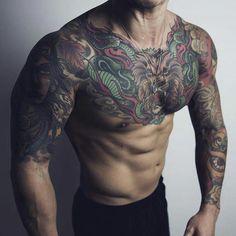 Style dogg# 5 japonia colorful sleeve tattoos, traditional tattoo art i jap Hot Guys Tattoos, Boy Tattoos, Badass Tattoos, Body Art Tattoos, Tatoos, Colorful Sleeve Tattoos, Japanese Sleeve Tattoos, Full Tattoo, Cover Tattoo