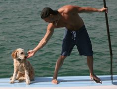 Kenny Chesney with his goldendoodle Pancho. See MORE adorable pets here>> http://my.gactv.com/great-american-pets/Celebrity-Pets/gallery.esi?sortOrder=2&page=1