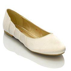 Essex Glam - Damen Satin Ballerinas - http://on-line-kaufen.de/essex-glam/essex-glam-damen-satin-ballerinas