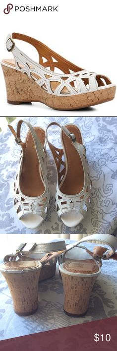Like New Wedge Sandals Like New Wedge Sandals Worn 1x Nicole Shoes Wedges