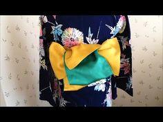 簡単、浴衣の帯の結び方/辻が花 - YouTube