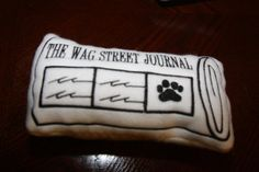 Wag Street Journal Dog Toy by smaechler on Etsy