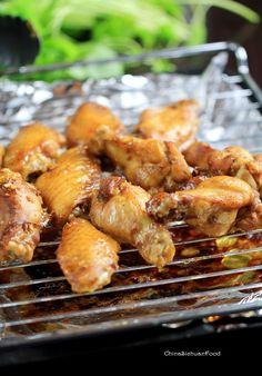 Glazed garlic #Chicken #Wings with honey