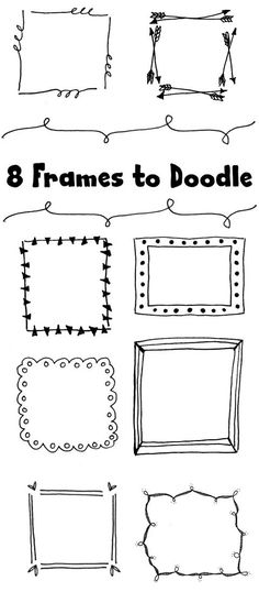 8 frames to doodle bullet journal frames, bullet journal fonts hand lettering, bullet journal Diy Album Photo, Diy Photo, Doodle Lettering, Lettering Design, Doodle Fonts, Lettering Brush, Bullet Journal Frames, Bullet Journals, Bullet Journal Front Page