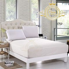 """Crown Collection Hotel Beddings 600-Thread-Count 100% Egyptian Cotton 1 Piece Fitted Sheet with 12"""" Deep Pocket Queen Size Damask Solid, White (King, White) King Size Bed Sheets, Fitted Bed Sheets, Cal King Size, Queen Size, Egyptian Cotton Sheets, Hotel Collection Bedding, White King, Hotel Bed, 1 Piece"""