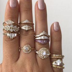 "ARTËMER on Instagram: ""Handful of diamonds ✨ . . . #baguettecut #altbride #finejewelry #artemerdeco #ringstagram #modernbride #artdecoring #finejewelrydesign…"""