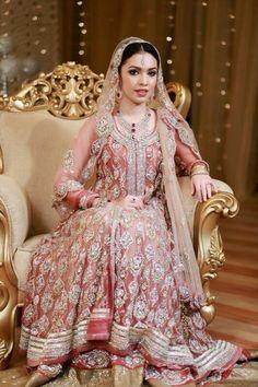 Custom Made Lehenga Nivetas Fashion Pakistani Couture, Pakistani Wedding Dresses, Indian Dresses, Indian Outfits, Wedding Abaya, Wedding Lenghas, Desi Bride, Bengali Bride, Punjabi Bride